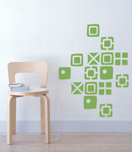 Abstracta Squares Vinyl Wall Decal