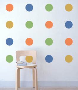 Colorful Polka Dot Wall Stickers