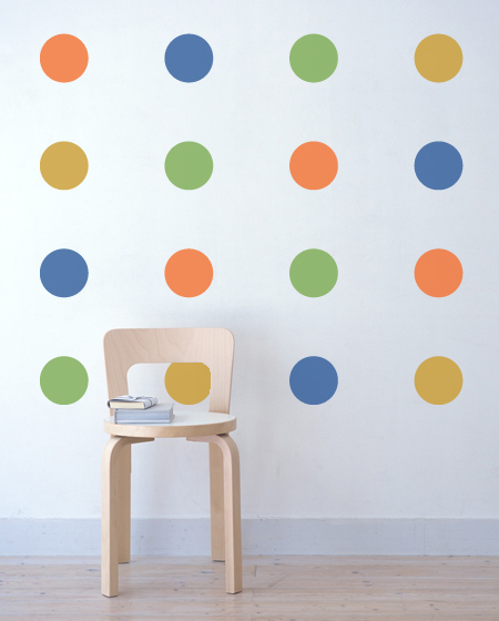 Colorful Polka Dot Wall Stickers Part 84