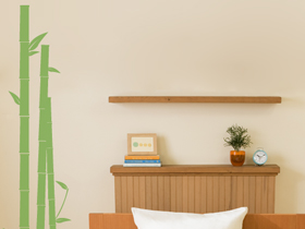 Bamboo Vinyl Wall Decals