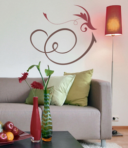Exotic Vine Flower Wall Decal
