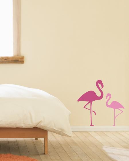Flamingo Pair Bird Wall Decal