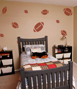Footballs Sports Wall Decal