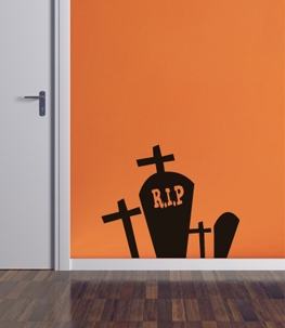 Graveyard Halloween Wall Decal