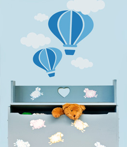 Hot Air Balloons Nursery Wall Decal