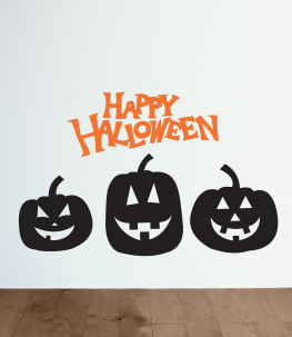Halloween Pumpkins Wall Decals