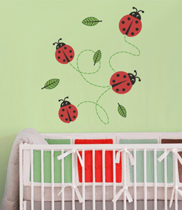 Lady Bugs Nursery Wall Decals