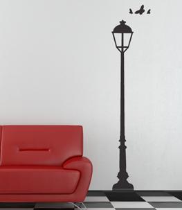 Light Post Vinyl Wall Decal