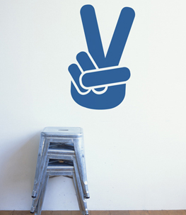 Peace Out! Vinyl Wall Decal