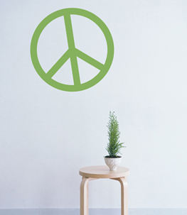 Peace Sign Vinyl Wall Decal