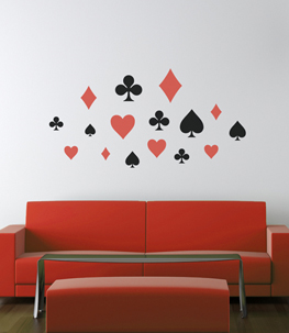Poker Punch Vinyl Wall Decal