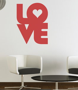 Retro Love Vinyl Wall Decal