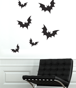 Scary Bats Vinyl Wall Decal