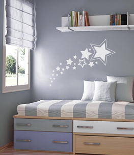 Shooting Stars Nursery Wall Decal