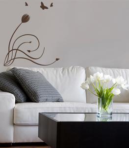 Tulip Corner Vine Wall Decal