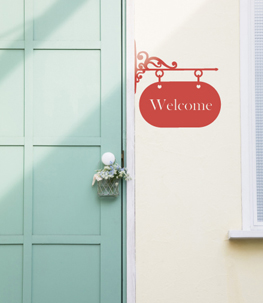 Welcome Sign Vinyl Wall Decals