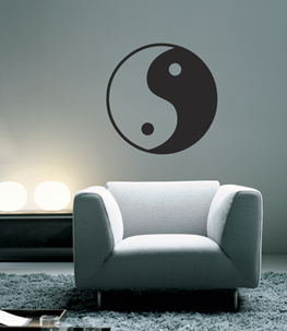 Yin Yang Vinyl Wall Decal