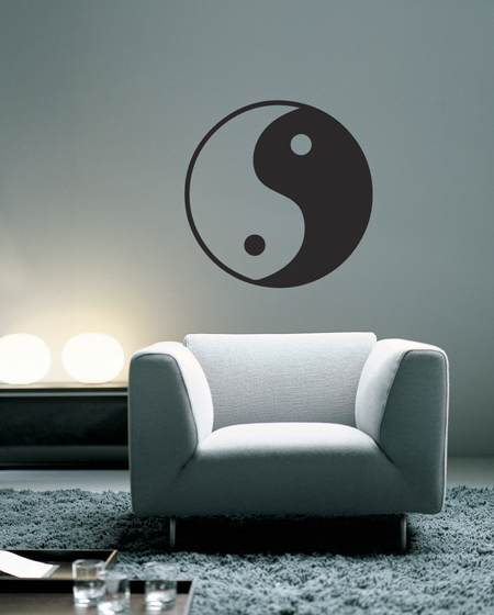 yin yang vinyl wall decal | college | graphical interiors